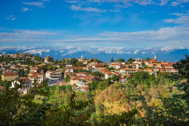 Herfst landschap van kakheti-regio