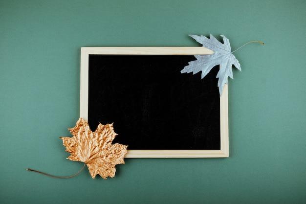 Herfst minimale platte lat, mockup, samenstelling