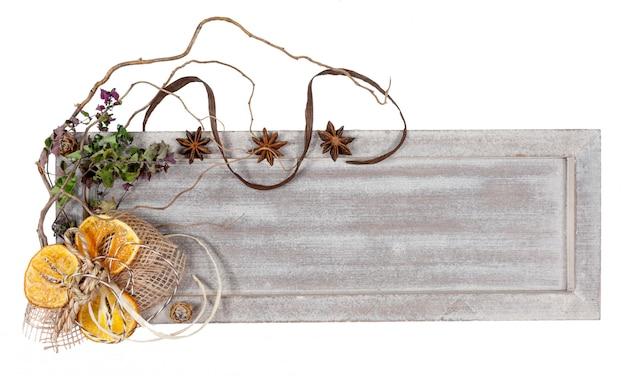 Herfst of witer decoraties, kopie ruimte