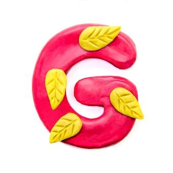 Herfst plasticine letter g van het engelse alfabet