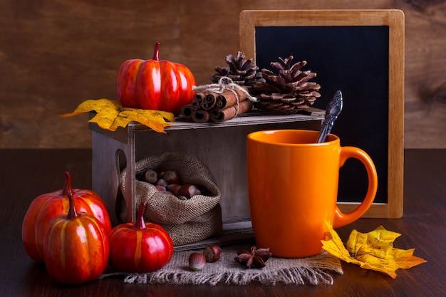 Herfst stilleven arrangement