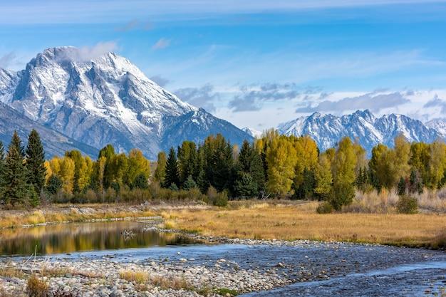Herfstkleuren in het grand teton national park