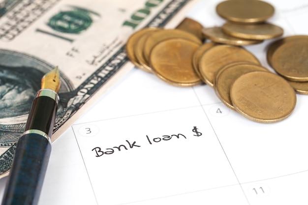 Herinnering datum tijd tot bankafspraak.