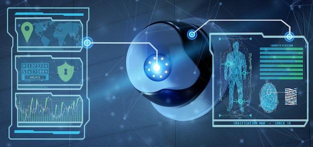 Herkennings- en detectiesoftware op een beveiligingscamerasysteem -