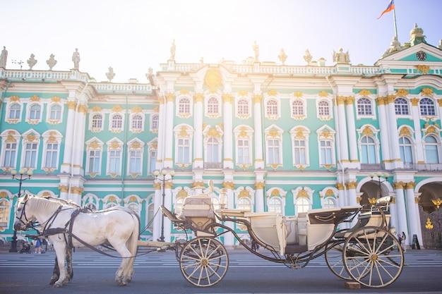 Hermitage op palace square, sint-petersburg, rusland