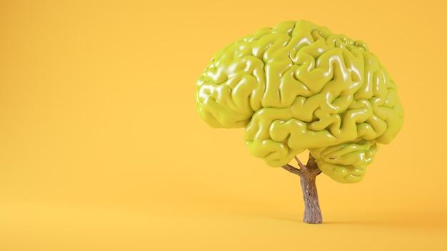 Hersenen boom concept 3d-rendering