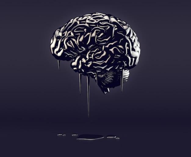 Hersenen gemaakt van olie