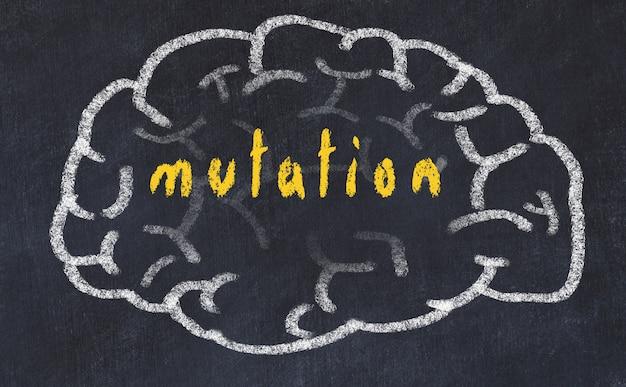 Hersenen met inscriptie mutatie