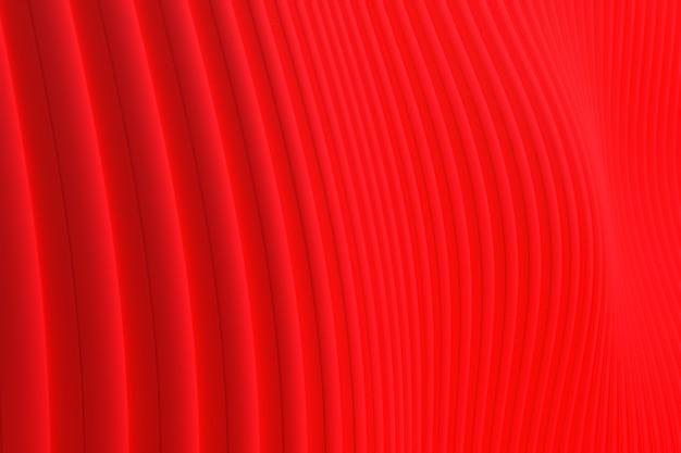 Het 3d teruggeven, abstracte de architectuur rode achtergrond van de muurgolf