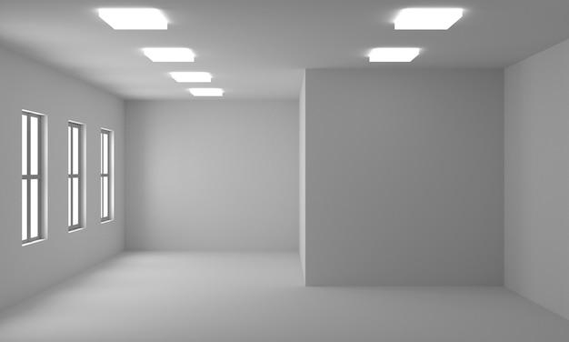 Het 3d teruggeven van lege binnenlandse ruimte