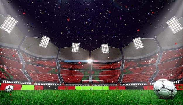 Het 3d teruggeven van stadionachtergrond