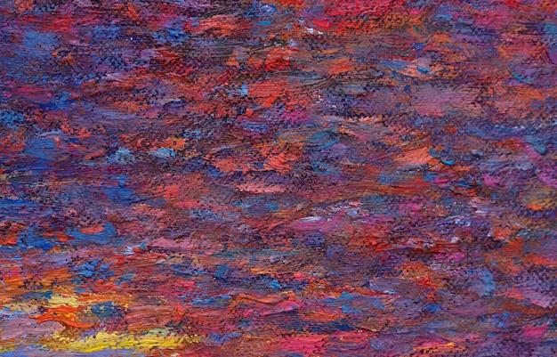 Het abstracte kunst schilderen op canvasachtergrond met textuur