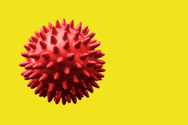 Het abstracte rode virus 3d teruggeven