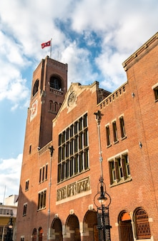 Het beurs van berlage gebouw in amsterdam nederland