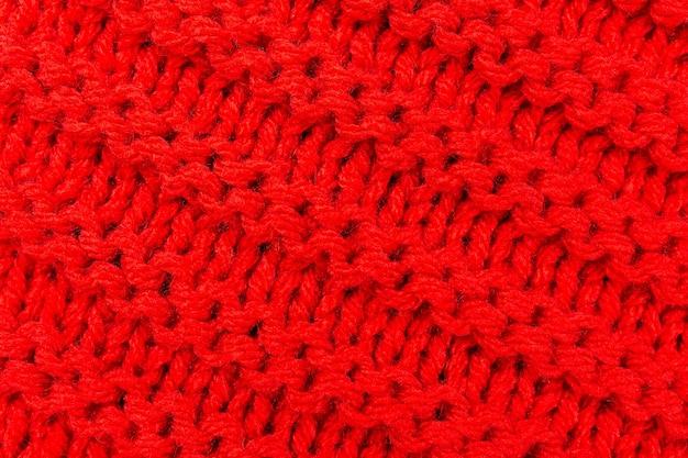Het breien van de textuur voor rode kleur