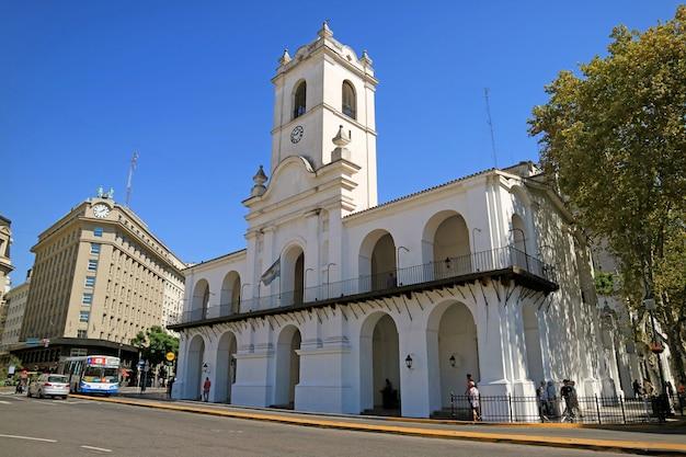 Het cabildo museum van buenos aires, vroegere gemeenteraad tijdens de koloniale era, buenos aires, argentinië