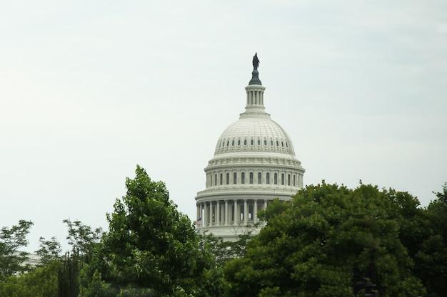 Het capitoolgebouw van verenigde staten in washington dc, de vs