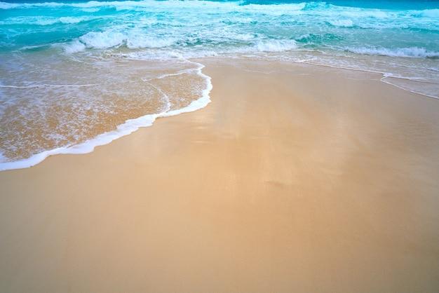 Het caraïbische turkooise overzees van het witte zandstrand