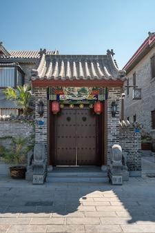 Het chinese klassieke landschap van de binnenplaatsarchitectuur