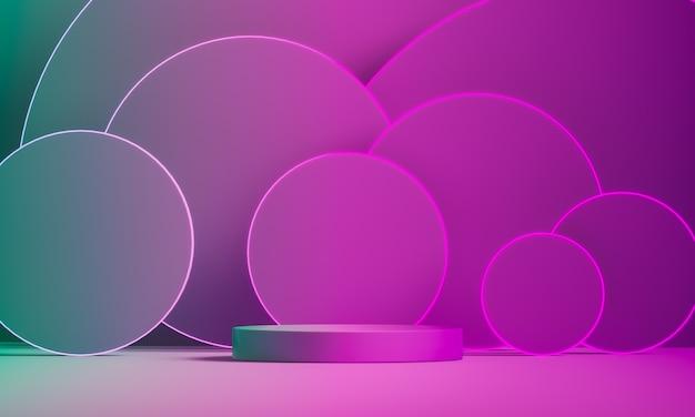 Het cirkelgradatiebeddegoed ligt te midden van veel gradiëntcirkels.