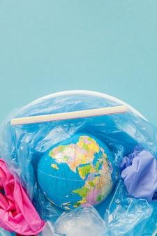Het concept om het gebruik van plastic zakken te verminderen