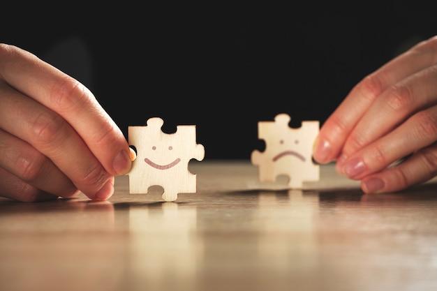 Het concept om uit de negatieve samenleving en positieve status te komen.