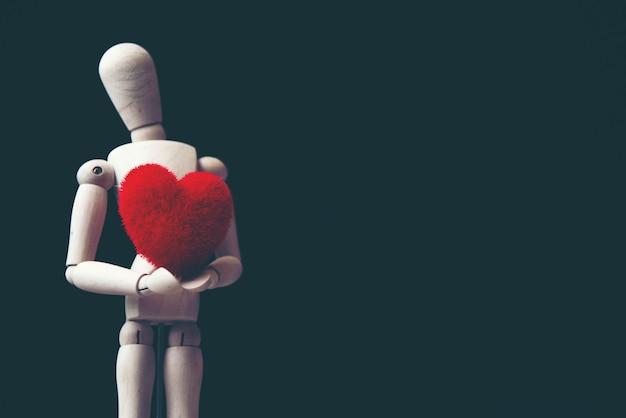 Het concept van de liefde, kunstbeeld voor de dag van de valentijnskaart