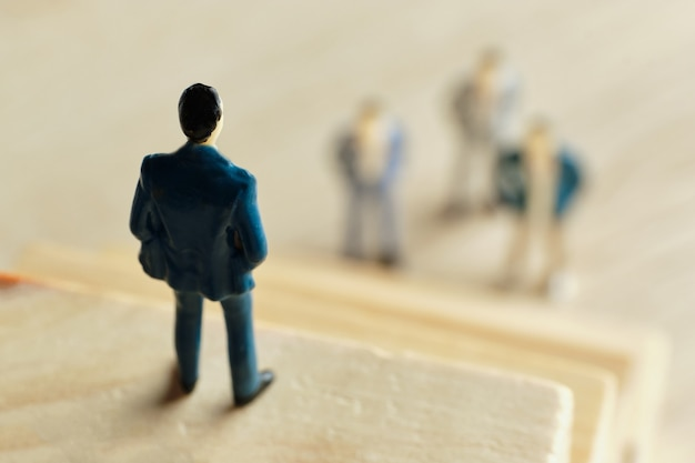 Het concept van een baas en leiderschap van medewerkers en het bedrijf.