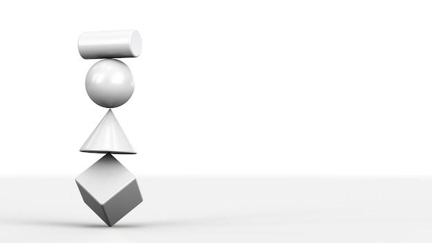 Het concept van een onbetrouwbaar systeem. balancerende figuren op elkaar