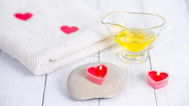Het concept van een spa op valentijnsdag