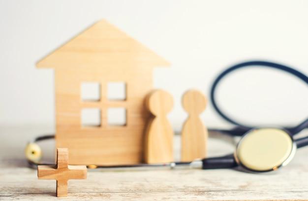 Het concept van familiegeneeskunde en verzekering Premium Foto