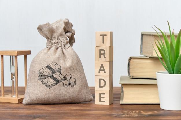 Het concept van grote winsten voor het verhandelen van verschillende goederen en diensten.