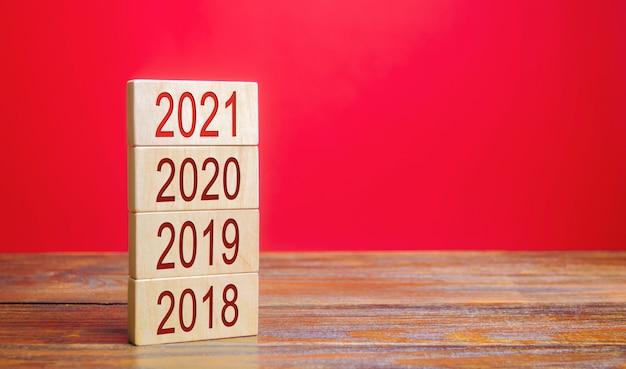 Het concept van het begin van het nieuwe jaar.