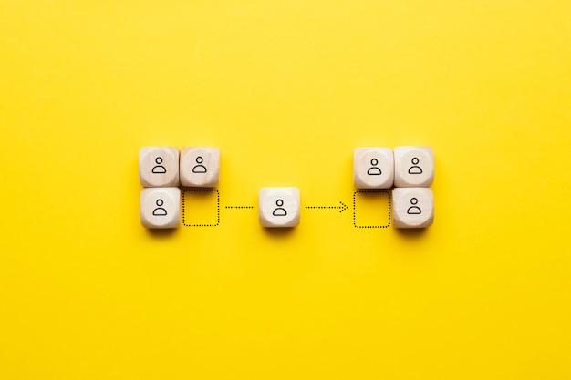 Het concept van het headhunten van werknemers van concurrent naar uw bedrijf.