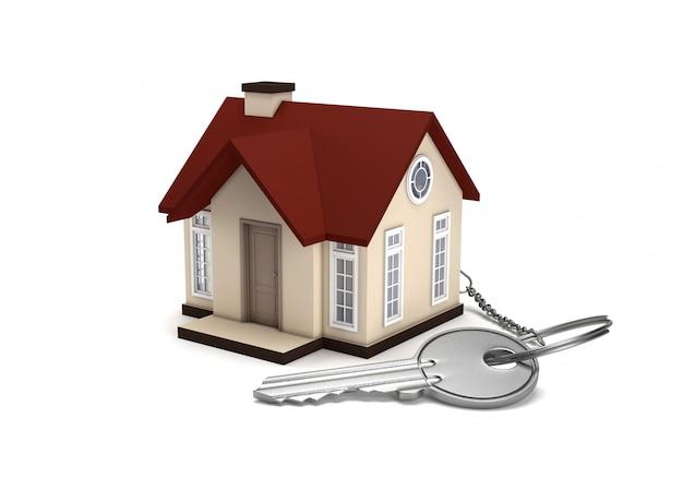 Het concept van het kopen en verkopen van een huis.