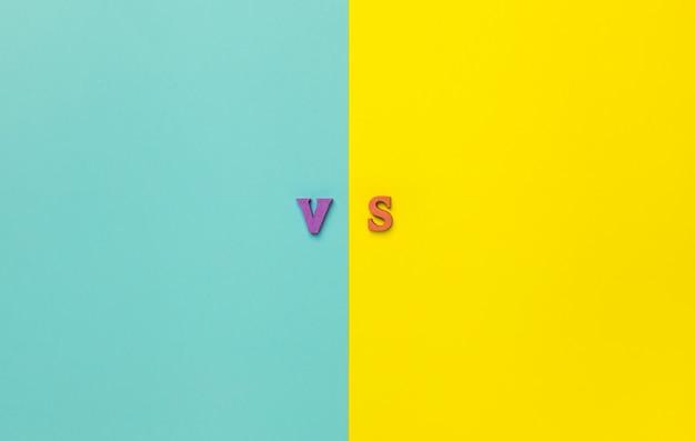Het concept van keuze maken. tegenover letters.