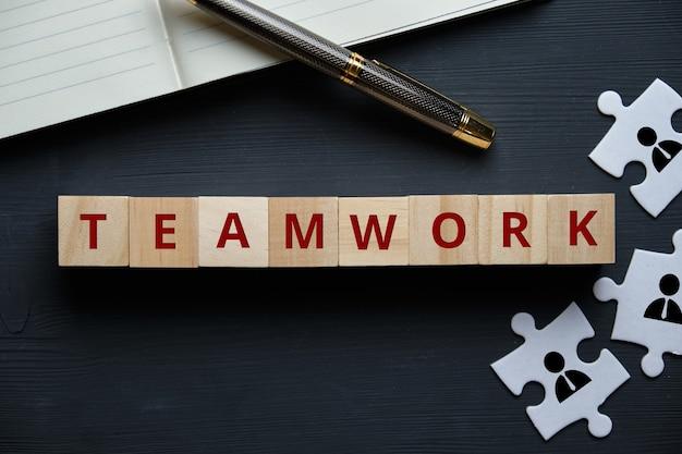 Het concept van teamwork als een essentieel instrument voor een succesvol bedrijf.