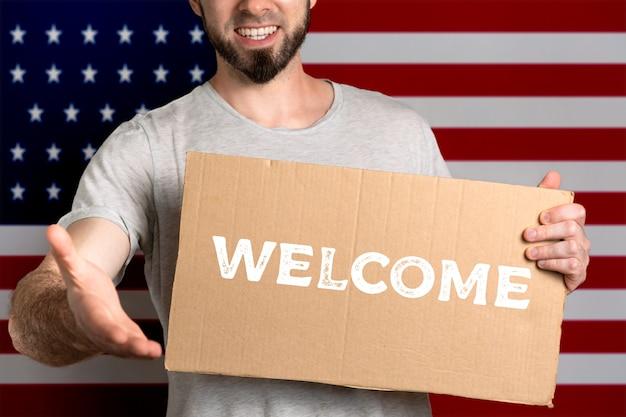 Het concept van tolerantie voor immigranten en mensen met verschillende levensposities.