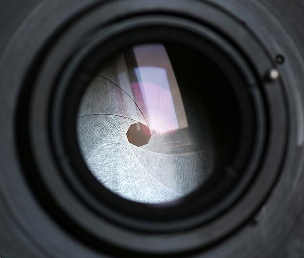 Het diafragma van de lensopening van een camera
