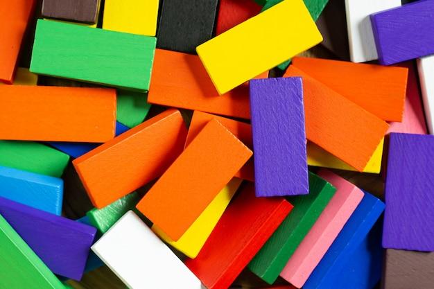 Het domino-kleuren dichte omhooggaande beeld voor achtergrond.