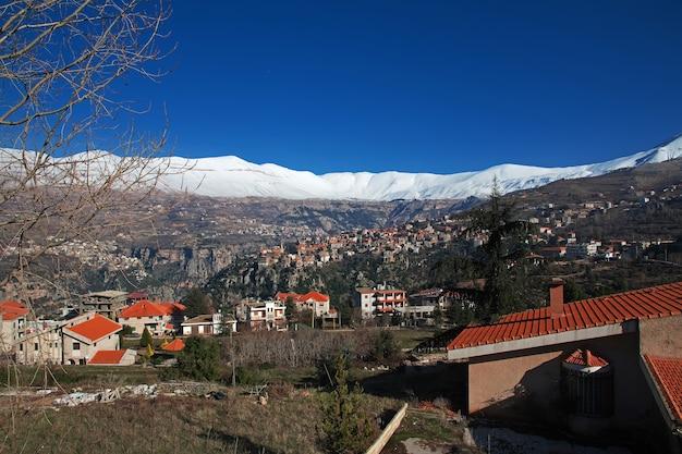 Het dorp in de kadisha-vallei van libanon