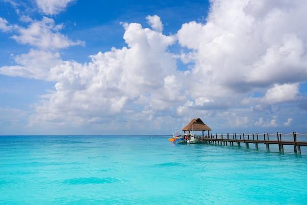 Het eilandstrand riviera maya mexico van cozumel