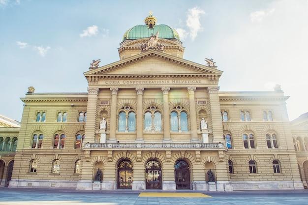 Het federale paleis, dat de zetel is van het federale parlement