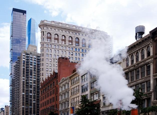 Het flatiron-gebouw in de stad new york
