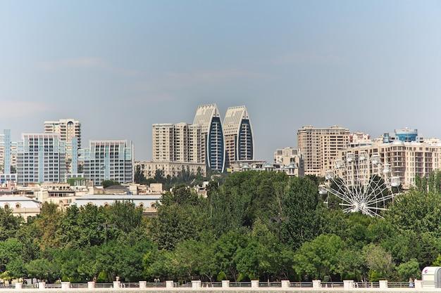 Het gebouw in baku stad, azerbeidzjan