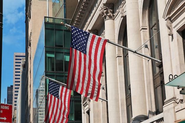 Het gebouw in de stad van new york, verenigde staten