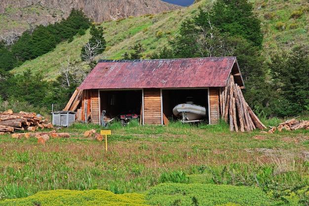 Het gebouw in el chalten, patagonië, argentinië