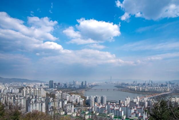 Het han river scenic area in seoul, de hoofdstad van zuid-korea.