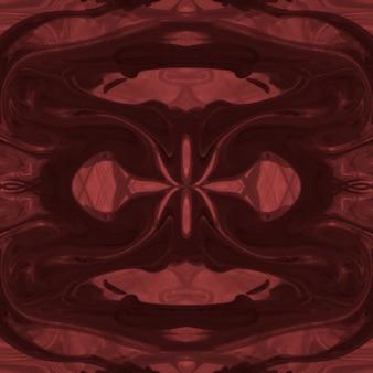 Het heldere rode abstracte acryl schilderen van de symmetrietextuur