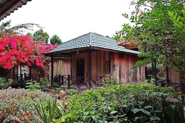 Het huis in de stad wamena, papua, indonesië